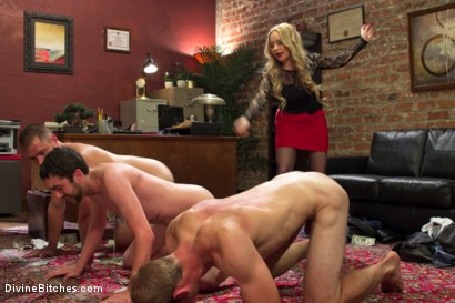 Photo number 12 from Corporate Scum CFNM Humiliation Take Over: Part 2 shot for Divine Bitches on Kink.com. Featuring Aiden Starr, Maitresse Madeline Marlowe , Jonah Marx, John Jammen and Jay Wimp in hardcore BDSM & Fetish porn.