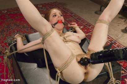 Photo number 11 from Penny Pax Gagged and Double Stuffed shot for Hogtied on Kink.com. Featuring Penny Pax in hardcore BDSM & Fetish porn.