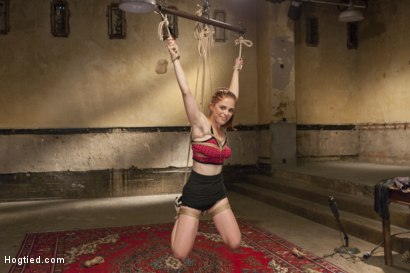 Photo number 1 from Penny Pax Gagged and Double Stuffed shot for Hogtied on Kink.com. Featuring Penny Pax in hardcore BDSM & Fetish porn.