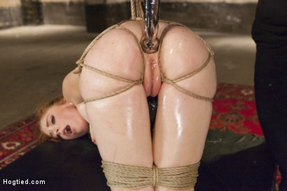 Photo number 7 from Penny Pax Gagged and Double Stuffed shot for Hogtied on Kink.com. Featuring Penny Pax in hardcore BDSM & Fetish porn.