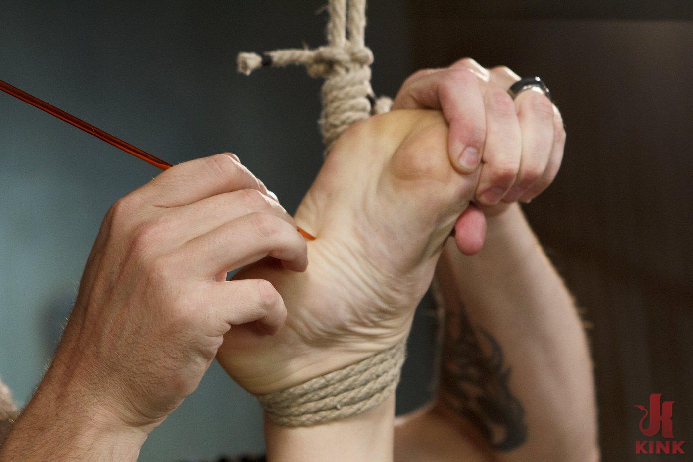 Photo number 14 from Blonde Hottie Takes Severe Torment in Brutal Bondage shot for Sadistic Rope on Kink.com. Featuring Dahlia Sky in hardcore BDSM & Fetish porn.