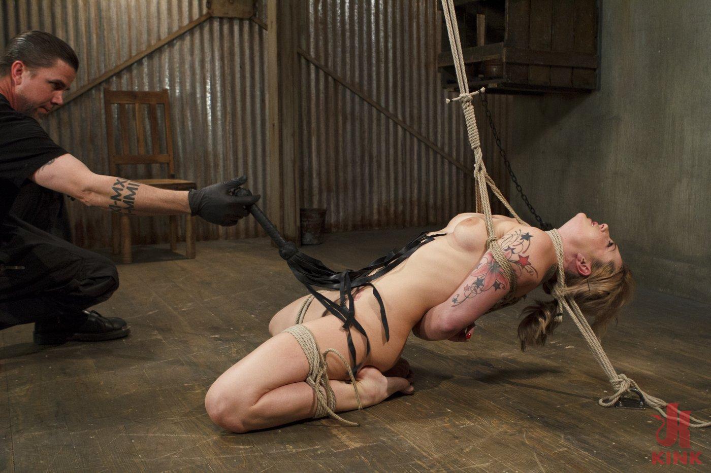 Photo number 1 from Blonde Hottie Takes Severe Torment in Brutal Bondage shot for Sadistic Rope on Kink.com. Featuring Dahlia Sky in hardcore BDSM & Fetish porn.