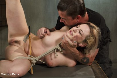 Photo number 6 from Blonde Hottie Takes Severe Torment in Brutal Bondage shot for Sadistic Rope on Kink.com. Featuring Dahlia Sky in hardcore BDSM & Fetish porn.