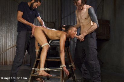 Photo number 8 from Double Vag Penetration with 2 Massive Cocks shot for Dungeon Sex on Kink.com. Featuring Mickey Mod, Nikki Darling and Owen Gray in hardcore BDSM & Fetish porn.