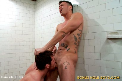 Photo number 9 from FTM Bathhouse Cruising with Connor Maguire and Gino Genet shot for Bonus Hole Boys on Kink.com. Featuring Connor Maguire and Gino Genet in hardcore BDSM & Fetish porn.