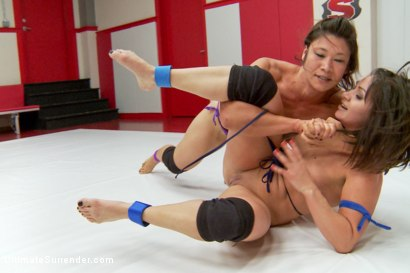 Photo number 4 from Pro Domme, Lea Lexis takes on Legit Wrestler, Jayogen Summer Vengeance shot for Ultimate Surrender on Kink.com. Featuring Lea Lexis and Jayogen in hardcore BDSM & Fetish porn.