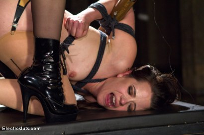 Photo number 13 from Hardcore Latex Painslut Electrofuck shot for Electro Sluts on Kink.com. Featuring Freya French and Chanel Preston in hardcore BDSM & Fetish porn.