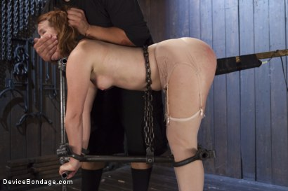Photo number 7 from Hot Red Head Gets Tormented and Ass Fucked shot for Device Bondage on Kink.com. Featuring Claire Robbins and Orlando in hardcore BDSM & Fetish porn.