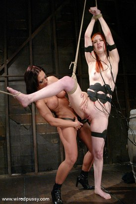 Photo number 14 from Calico and Sandra Romain shot for Wired Pussy on Kink.com. Featuring Calico and Sandra Romain in hardcore BDSM & Fetish porn.