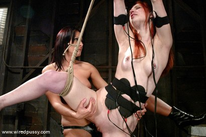 Photo number 12 from Calico and Sandra Romain shot for Wired Pussy on Kink.com. Featuring Calico and Sandra Romain in hardcore BDSM & Fetish porn.