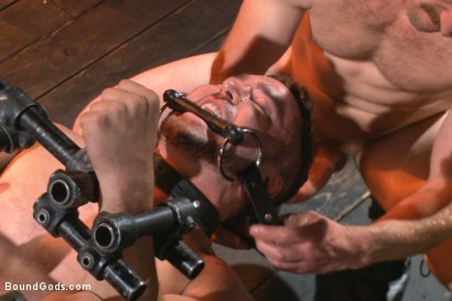 Photo number 12 from Helpless and caged like an animal shot for Bound Gods on Kink.com. Featuring Adam Herst and Colt Rivers in hardcore BDSM & Fetish porn.