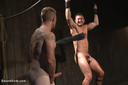 Photo number 10 from Helpless and caged like an animal shot for Bound Gods on Kink.com. Featuring Adam Herst and Colt Rivers in hardcore BDSM & Fetish porn.