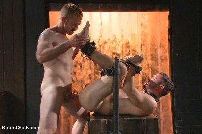 Photo number 11 from Helpless and caged like an animal shot for Bound Gods on Kink.com. Featuring Adam Herst and Colt Rivers in hardcore BDSM & Fetish porn.