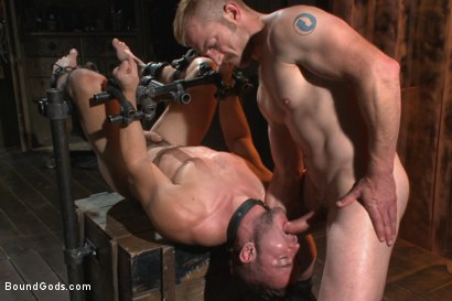 Photo number 14 from Helpless and caged like an animal shot for Bound Gods on Kink.com. Featuring Adam Herst and Colt Rivers in hardcore BDSM & Fetish porn.