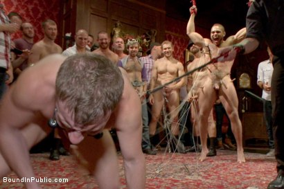 Photo number 10 from HAPPY SF PRIDE EVERYONE!  shot for Bound in Public on Kink.com. Featuring Doug Acre, Alex Adams and Trenton Ducati in hardcore BDSM & Fetish porn.