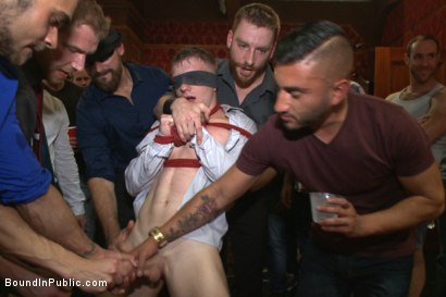 Photo number 1 from HAPPY SF PRIDE EVERYONE!  shot for Bound in Public on Kink.com. Featuring Doug Acre, Alex Adams and Trenton Ducati in hardcore BDSM & Fetish porn.