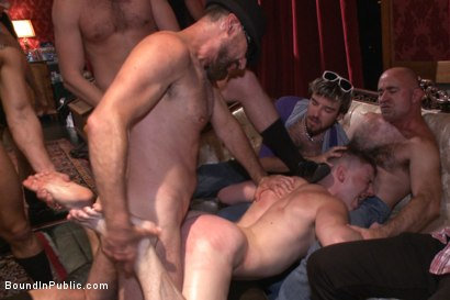 Photo number 10 from Giant cock stud relentlessly fucked & tossed around like a ragdoll  shot for Bound in Public on Kink.com. Featuring Doug Acre and Trenton Ducati in hardcore BDSM & Fetish porn.