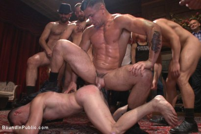 Photo number 6 from Giant cock stud relentlessly fucked & tossed around like a ragdoll  shot for Bound in Public on Kink.com. Featuring Doug Acre and Trenton Ducati in hardcore BDSM & Fetish porn.