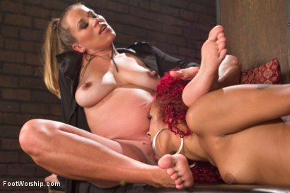 Photo number 7 from Return of the Fertility Goddess  shot for Foot Worship on Kink.com. Featuring Daisy Ducati and Bella Wilde in hardcore BDSM & Fetish porn.