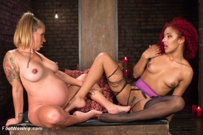 Photo number 10 from Return of the Fertility Goddess  shot for Foot Worship on Kink.com. Featuring Daisy Ducati and Bella Wilde in hardcore BDSM & Fetish porn.