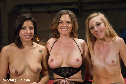 Photo number 15 from Naughty Anal Sluts shot for Everything Butt on Kink.com. Featuring Krissy Lynn, Emma Haize and Katrina Zova in hardcore BDSM & Fetish porn.