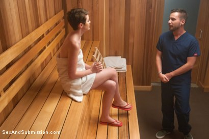 Photo number 2 from The Sauna shot for Sex And Submission on Kink.com. Featuring Nora Belle and Dane Cross in hardcore BDSM & Fetish porn.