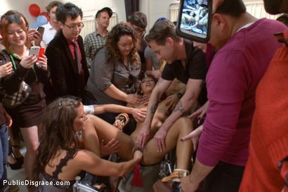 Photo number 4 from Medical mayhem! Flexible pain slut plays doctor. shot for Public Disgrace on Kink.com. Featuring Daisy Ducati, Ariel X and Astral Dust in hardcore BDSM & Fetish porn.
