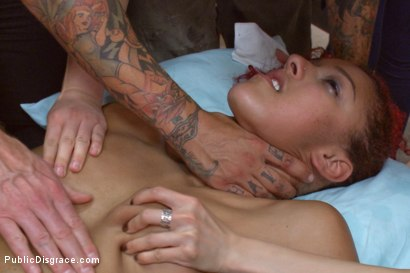Photo number 14 from Medical mayhem! Flexible pain slut plays doctor. shot for Public Disgrace on Kink.com. Featuring Daisy Ducati, Ariel X and Astral Dust in hardcore BDSM & Fetish porn.