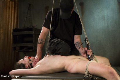 Photo number 2 from Newcomer Pays the Price shot for Sadistic Rope on Kink.com. Featuring Freya French in hardcore BDSM & Fetish porn.