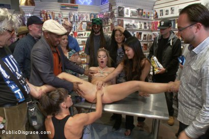 Photo number 12 from Body like a goddess, mind of a whore!  shot for Public Disgrace on Kink.com. Featuring John Strong, Candice Dare and Ariel X in hardcore BDSM & Fetish porn.