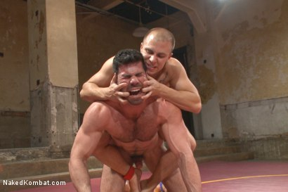 Photo number 10 from Summer Smackdown Tournament Quarter Finals - Match Two  shot for Naked Kombat on Kink.com. Featuring Eli Hunter and Billy Santoro in hardcore BDSM & Fetish porn.