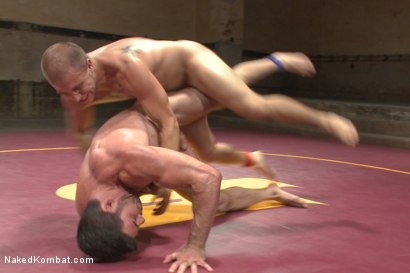 Photo number 3 from Summer Smackdown Tournament Quarter Finals - Match Two  shot for Naked Kombat on Kink.com. Featuring Eli Hunter and Billy Santoro in hardcore BDSM & Fetish porn.