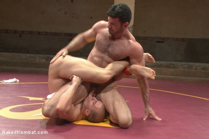 Photo number 4 from Summer Smackdown Tournament Quarter Finals - Match Two  shot for Naked Kombat on Kink.com. Featuring Eli Hunter and Billy Santoro in hardcore BDSM & Fetish porn.