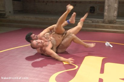 Photo number 7 from Summer Smackdown Tournament Quarter Finals - Match Two  shot for Naked Kombat on Kink.com. Featuring Eli Hunter and Billy Santoro in hardcore BDSM & Fetish porn.
