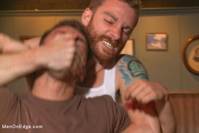Photo number 2 from Cocky punk relentlessly edged and machine fucked against his will shot for Men On Edge on Kink.com. Featuring Trevor Spade in hardcore BDSM & Fetish porn.