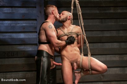 Photo number 7 from Adam and Dylan - Real Life Couple Series  shot for Bound Gods on Kink.com. Featuring Adam Herst and Dylan Strokes in hardcore BDSM & Fetish porn.