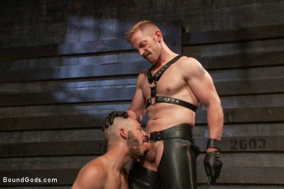 Photo number 3 from Adam and Dylan - Real Life Couple Series  shot for Bound Gods on Kink.com. Featuring Adam Herst and Dylan Strokes in hardcore BDSM & Fetish porn.