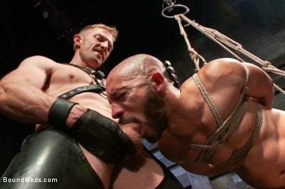 Photo number 5 from Adam and Dylan - Real Life Couple Series  shot for Bound Gods on Kink.com. Featuring Adam Herst and Dylan Strokes in hardcore BDSM & Fetish porn.
