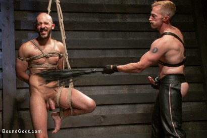 Photo number 6 from Adam and Dylan - Real Life Couple Series  shot for Bound Gods on Kink.com. Featuring Adam Herst and Dylan Strokes in hardcore BDSM & Fetish porn.