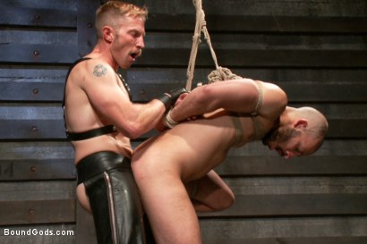 Photo number 9 from Adam and Dylan - Real Life Couple Series  shot for Bound Gods on Kink.com. Featuring Adam Herst and Dylan Strokes in hardcore BDSM & Fetish porn.