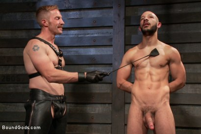 Photo number 1 from Adam and Dylan - Real Life Couple Series  shot for Bound Gods on Kink.com. Featuring Adam Herst and Dylan Strokes in hardcore BDSM & Fetish porn.