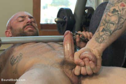 Photo number 2 from Bondage Boot Camp Workout shot for Bound Gods on Kink.com. Featuring Tatum and Trenton Ducati in hardcore BDSM & Fetish porn.