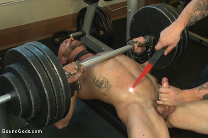 Photo number 3 from Bondage Boot Camp Workout shot for Bound Gods on Kink.com. Featuring Tatum and Trenton Ducati in hardcore BDSM & Fetish porn.