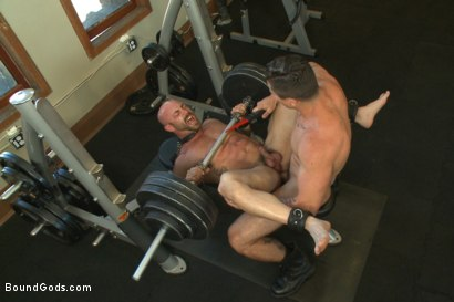 Photo number 5 from Bondage Boot Camp Workout shot for Bound Gods on Kink.com. Featuring Tatum and Trenton Ducati in hardcore BDSM & Fetish porn.