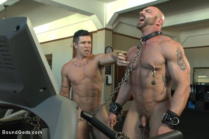 Photo number 6 from Bondage Boot Camp Workout shot for Bound Gods on Kink.com. Featuring Tatum and Trenton Ducati in hardcore BDSM & Fetish porn.