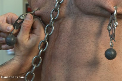 Photo number 7 from Bondage Boot Camp Workout shot for Bound Gods on Kink.com. Featuring Tatum and Trenton Ducati in hardcore BDSM & Fetish porn.