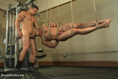 Photo number 9 from Bondage Boot Camp Workout shot for Bound Gods on Kink.com. Featuring Tatum and Trenton Ducati in hardcore BDSM & Fetish porn.