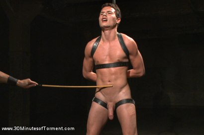 Photo number 9 from Hot stud pushes his limits to the max! shot for 30 Minutes of Torment on Kink.com. Featuring Micky Mackenzie in hardcore BDSM & Fetish porn.