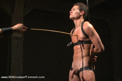 Photo number 6 from Hot stud pushes his limits to the max! shot for 30 Minutes of Torment on Kink.com. Featuring Micky Mackenzie in hardcore BDSM & Fetish porn.