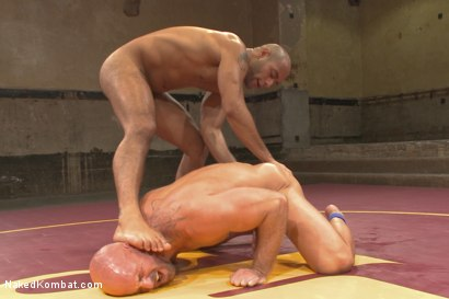 "Photo number 15 from ""Return of the Champion"" - Summer Smackdown: 1st Semi Final Match shot for Naked Kombat on Kink.com. Featuring Mitch Vaughn and Leo Forte in hardcore BDSM & Fetish porn."